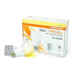 SYLVANIA 71932 SW Zigbee Starter Kit, Includes:  A19 Soft Wh