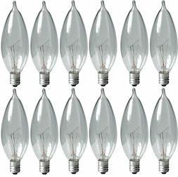 GE Lighting 24779 60 Watt Blunt Tip Decorative 12 Light Bulb