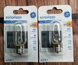 GE Lighting 71604 40 Watt Appliance E17 Base T8 Light Bulb,