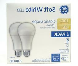 GE Lighting LED Soft White Light Bulbs 100W Uses 16W  Classi