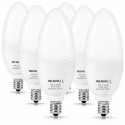 Lohas Candelabra Led Bulb Dimmable Daylight White 5000K 6W C