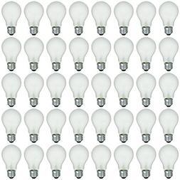 48 Pack of 60 Watt Long Life Incandescent Light Bulb, 130 Vo