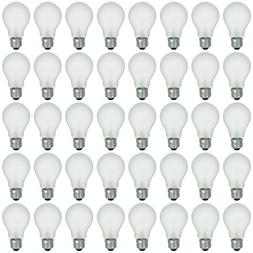 48 Pack of 100 Watt Long Life Incandescent Light Bulb, 130 V