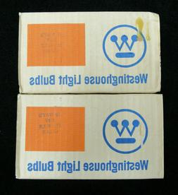 Lot 12 Westinghouse 6W Light Bulbs 130v Clear S11 New Old St