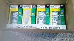 Lot 12X Sylvania 23w watt 120v volt Compact fluorescent Lamp