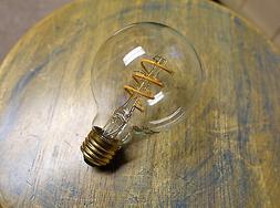 LOT: 4x LED Edison Bulb G25, Curved Vintage Style Spiral Fil