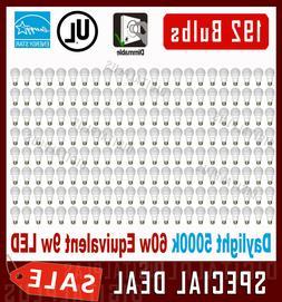 Lot Of 144 Maxlite LED Light Bulbs  9w = 60 watt A19 Dayligh