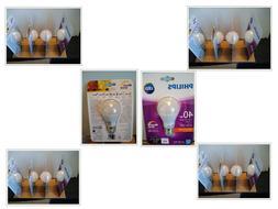LOT OF 16-Philips LED 6.5 Watt / 40W DIMMABLE SOFT WHITE Lig