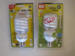 Lot of 2 GE Energy Saving Smart Light Bulbs 100 Watt NEW
