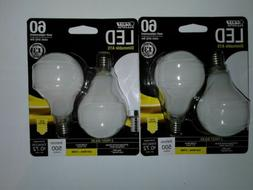Lot of 2 pk. FEIT Electric LED Dimmable A15 Frost Bulbs, 500