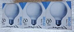 Lot of 3 Westinghouse 60W White Globe Light Bulbs #04223 130