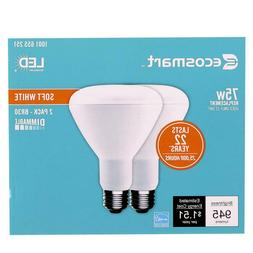 Lot of 4 EcoSmart 75-Watt Equiv BR30 Dimmable Energy Star LE