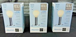LOT OF 4 KICHLER LED LIGHT BULBS DECORATIVE COLLECTION 40W A