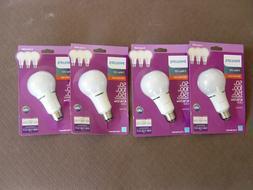 LOT OF 4 NEW PHILIPS 3WAY LED 50W/100W/150W SOFT WHITE LGHT