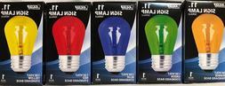 LOT of 5 Feit Electric Light Bulbs 11W 130V Standard Base S1