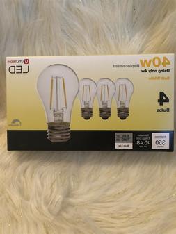 LOT OF 5! Utilitech 4w Led 40w Soft White light Bulbs Dimmab