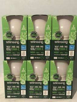 Lot of 6 Greenlite LED 3-Way Bulb 40 / 60 / 100 Watt Bulbs F