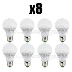 Lot of 8 LED Energy Saving Light Bulbs 25 Watt Bright White