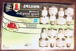 Philips Marathon 60 13W CFL Energy Saving Light Bulb, 8 PK 1