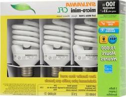 Micro Mini Soft White 23W=100W 3 Pack 2700K TwistMedium Sc