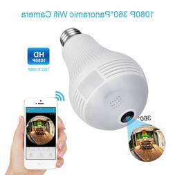 Mini 1080P WIFI HD SPY Hidden Camera Light Bulb DVR Motion D