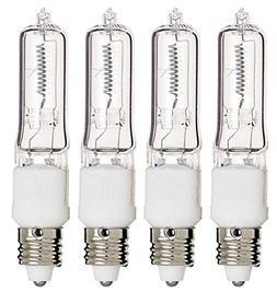Mini Candelabra Base 120V Clear Light Bulbs 100 Watt Pack Of