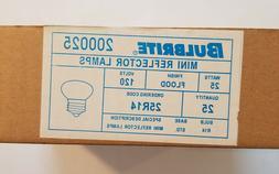 Bulbrite Mini Reflector Lamp Light Bulbs 25w 120v Box Qty 25