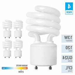 13 Watt Mini Spiral - GU24 Base -  - T2 Mini-Twist - CFL Li
