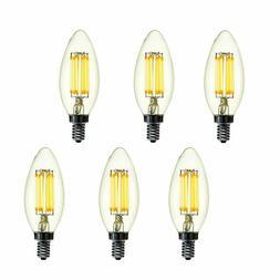 Modvera LED Candelabra Bulb Dimmable 2700K E12 Base Chandeli