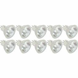 20 Watt MR11 GU4 Halogen Bulbs with Cover Glass 12V 20W FTD