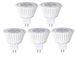 5 Pack Bioluz LED MR16 50W Halogen Equivalent Dimmable 7w 30