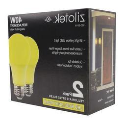 new 2 pack yellow led bug light