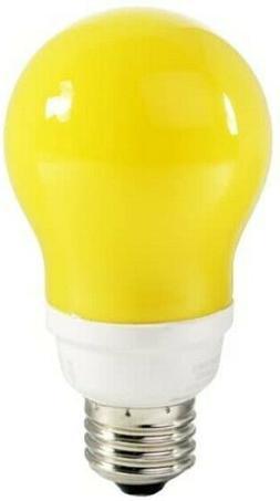 New TCP 21314Y 14W Yellow A-Shape Compact Fluorescent Bug Li