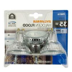 NEW 3 Pack Sylvania 35w Halogen Flood Light Bulbs GU10 PAR16