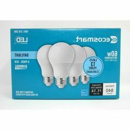 New 4 EcoSmart 60w Equivalent A19 Dimmable Selectable adjust