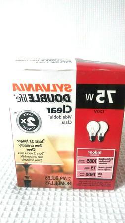 NEW  SYLVANIA 75 Watt Light Bulbs double life Clear A19