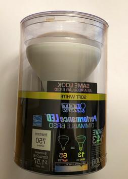 NEW Feit 13 Watt BR30 LED Dimmable Flood Light Bulbs Soft Wh