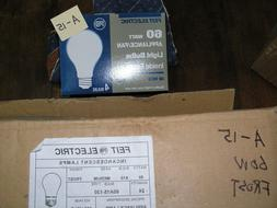 NEW Feit 60 watt A15 Frost 4 Bulbs  Pack 130V Appliance smal