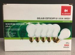 New Havells Rough Service Bulbs / A19 / 100 Watt / Lot of 6