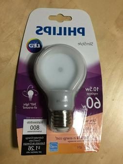 NEW Philips Slim Style LED 60w Equivalent Light Bulbs Dimmab