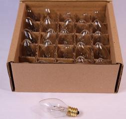 Creative Hobbies Night Light Bulbs, C7, Clear, Steady Burnin