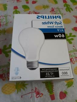 NOS 4 Pack Of Philips Soft White 60 Watt Incandescent Light