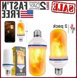 Fuxury Omicoo LED Flame Effect Fire Light Bulbs E26 E27 4 Mo