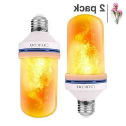 Omicoo LED Flame Effect Fire Light Bulbs, 4 Modes With Upsid