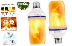 Omicoo LED Flame Effect Light Bulb , 4 Modes Flame Light 2 p