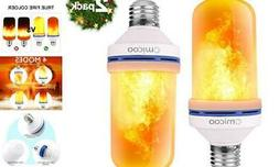 Fuxury Omicoo LED Flame Effect Light Bulb, 4 Modes with Grav