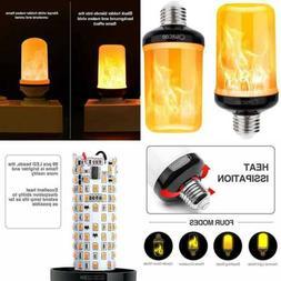 Omicoo Updated LED Flame Effect Light Bulb 2 Pack 4 Modes Bu