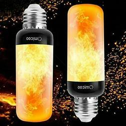 Omicoo Updated Slim LED Flame Effect Light Bulb, 4 2 pcs, Ye