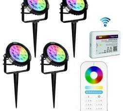 Outdoor LED Spotlight Waterproof Lawn Lamps RGB Wifi Smartph