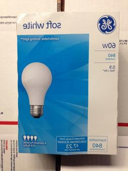 💡 PACK of FOUR GE 60 Watt Soft White Incandescent Light B